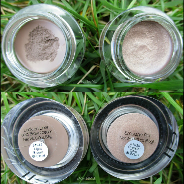 e.l.f. Products   e.l.f. Lock On Liner & Brow Cream in Light Brown, e.l.f. Smudge Pot in Cruisin' Chic