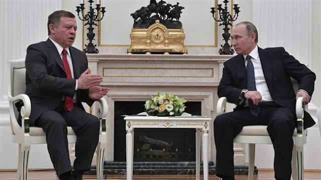 Russian President Vladimir Putin meets Jordan king Abdullah II, says no military solution to Syria crisis
