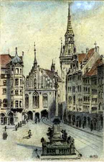 Hitler's painting of Marienplatz