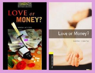 portadas del libro de intriga Love or money?
