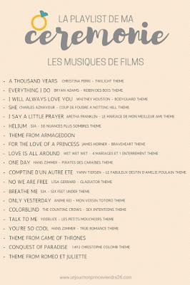 musiques de films pour cérémonies