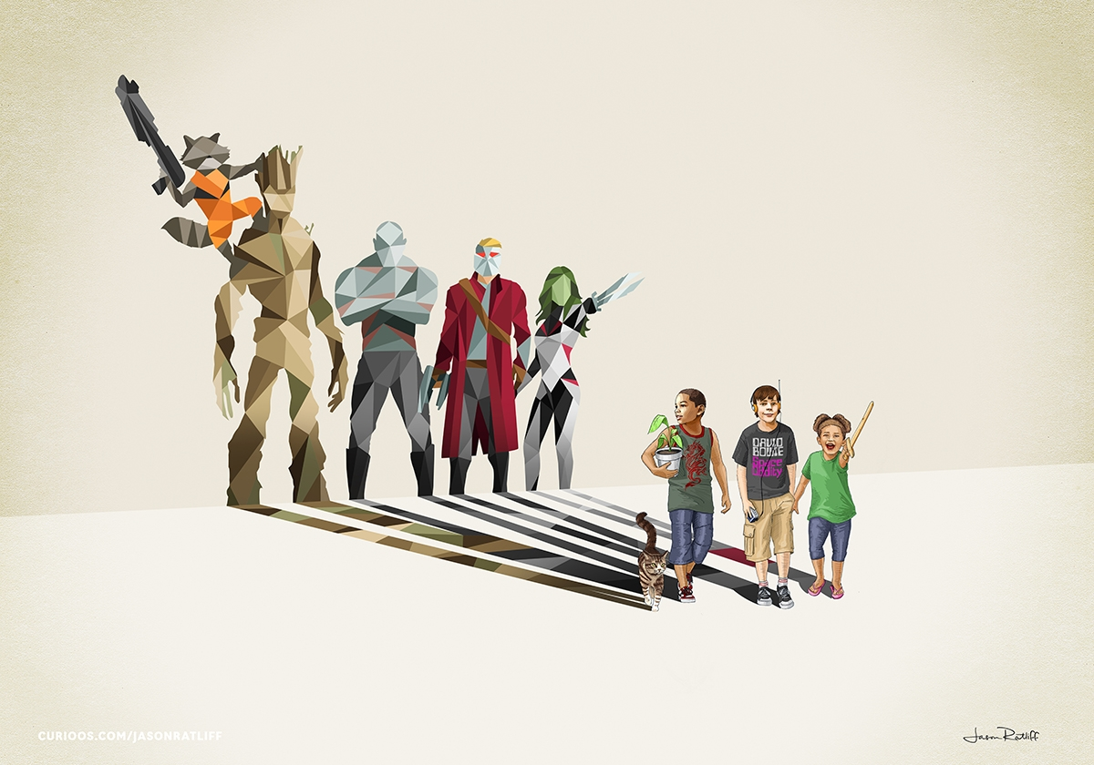 15-Guardians-of-the-Galaxy-Vin-Diesel-Groot-Rocket-Raccoon-Jason-Ratliff-Comic-Book-Heroes-in-Super-Shadows-II-Illustrations-www-designstack-co