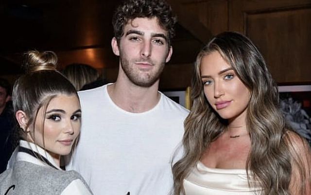 Lori Loughlin's daughter Olivia Jade is 'staying with her boyfriend' in Malibu amid the fallout over the college bribery scandal and rumored rift with her parents - as it's revealed she has 'privately been posting on Instagram'