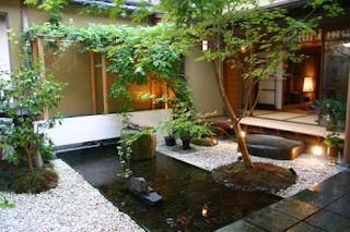 sketsa halaman rumah minimalis