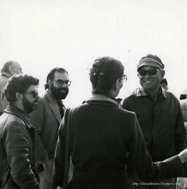 Akira Kurosawa, Francis Ford Coppola and George Lucas on the set of KAGEMUSHA