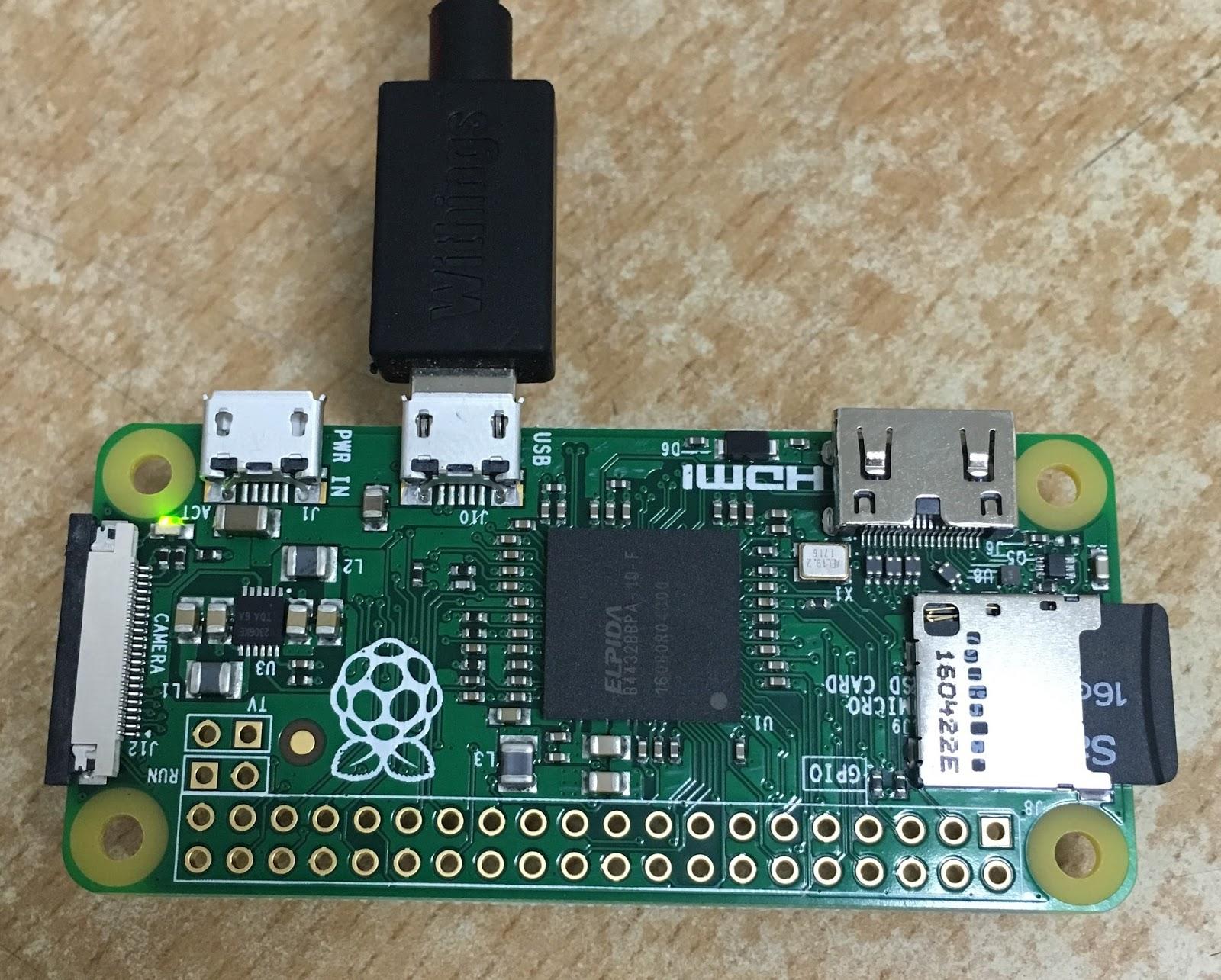 기술 여행자 (ArsViator): 라즈베리 파이 제로를 USB 케이블 하나로 사용