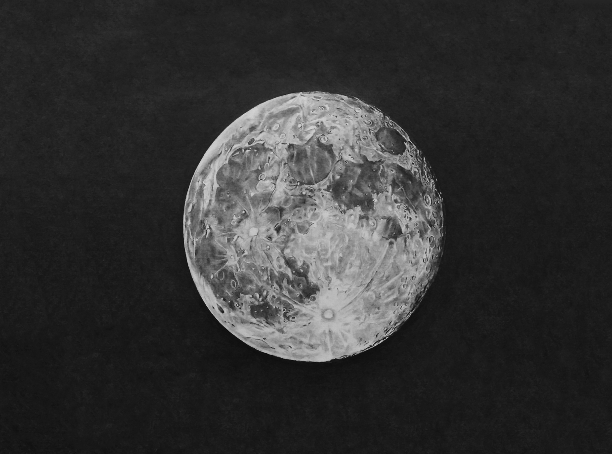 This is a picture of Priceless Drawing The Moon