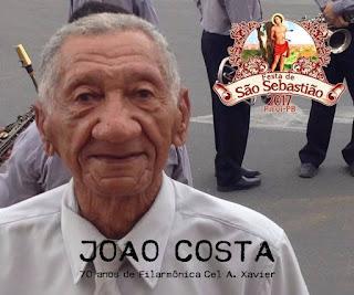 Músico João Costa deixa legado impecável para cultura de Picuí