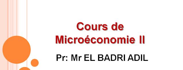 s2, cours microéconomie l1 s2, la microéconomie s2,