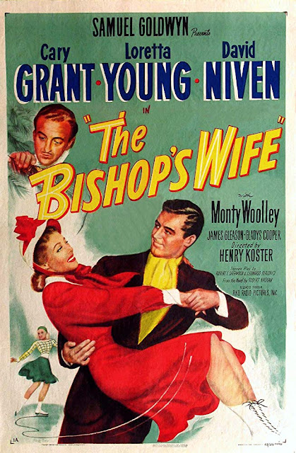 The Bishop's Wife 1947 Christmas movie poster Cary Grant Loretta Young