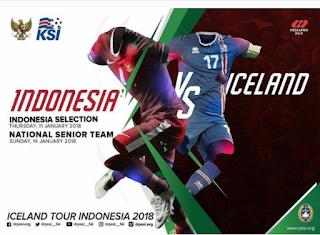 Jadwal Timnas vs Islandia 11 dan 14 januari 2018