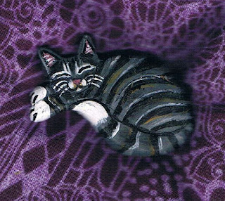 Striped Grey Tabby Brooch on Etsy