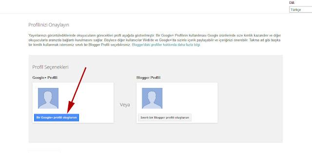 Bir Google+ Profili Oluşturun