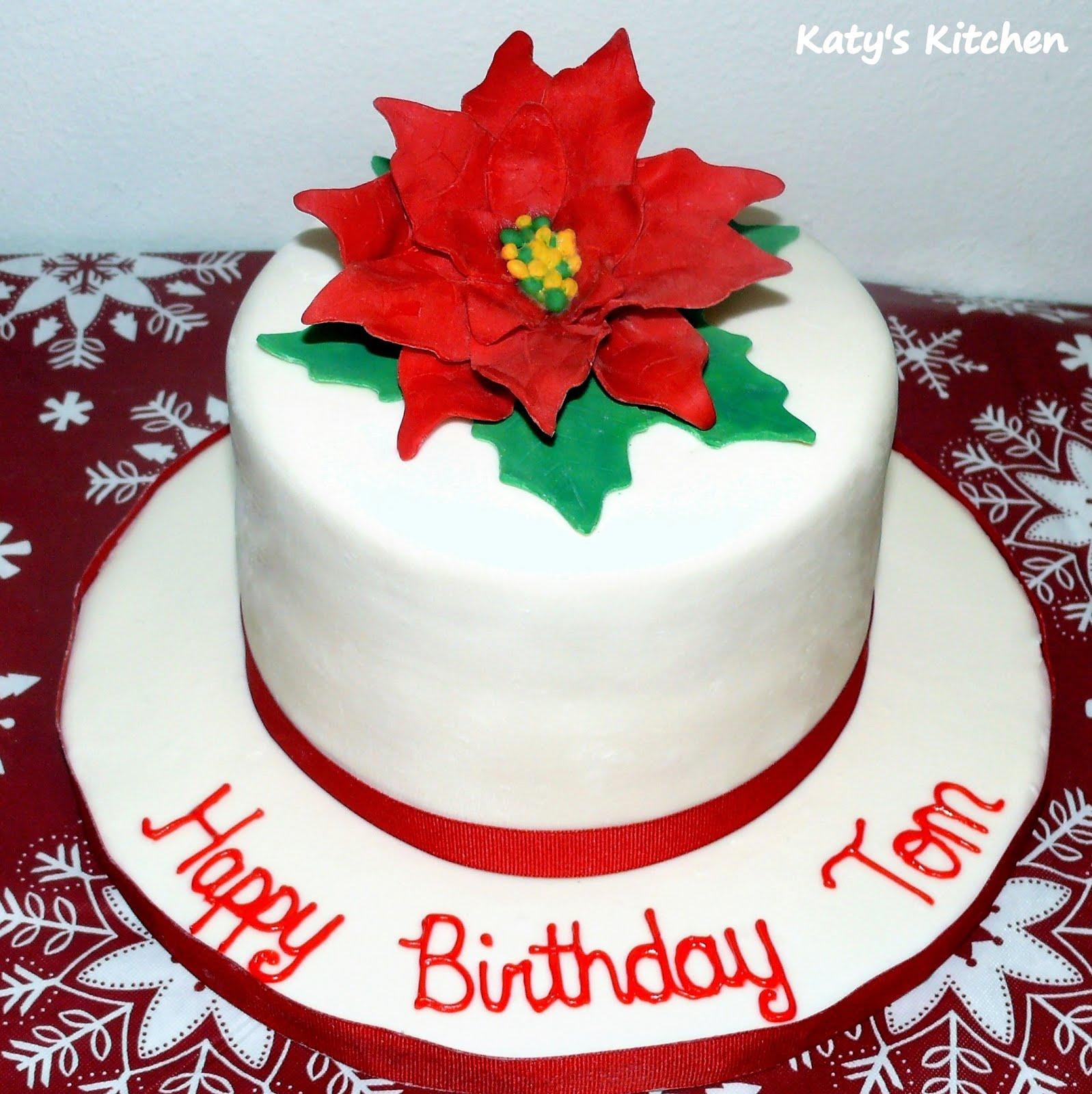 Katys Kitchen Poinsettia Birthday Cake