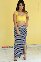 Cute Telugu Actress Shunaya Solanki High Definition Spicy Pos in Yellow Top and Skirt  0139.JPG