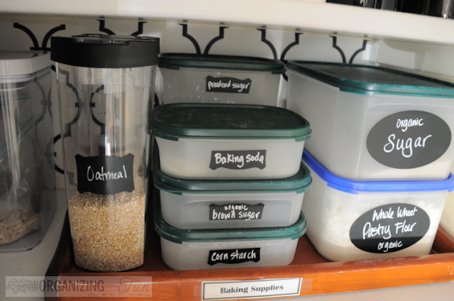 Labeling containers :: OrganizingMadeFun.com