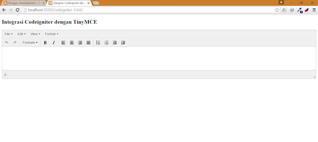 instal tinymce codeigniter