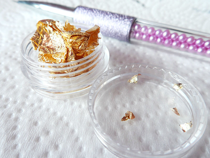 gold nail art foil