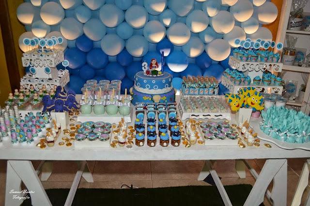 Linda mesa provençal da Ariel Bebita Festas