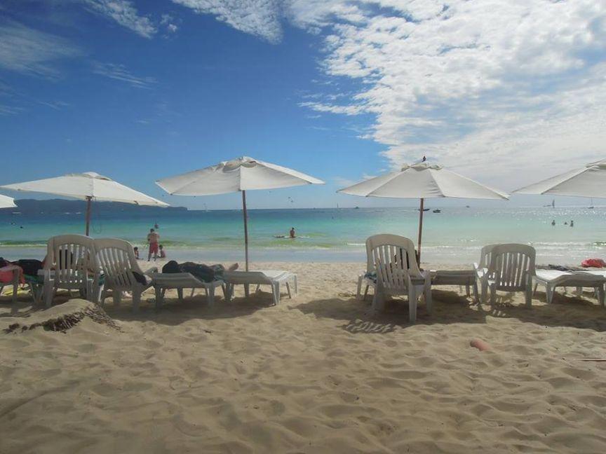 Beach umbrellas in Boracay