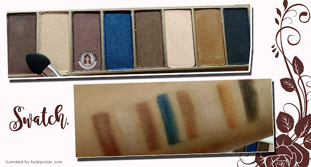 Swatch+warna+eyeshadow+natural+sariayu