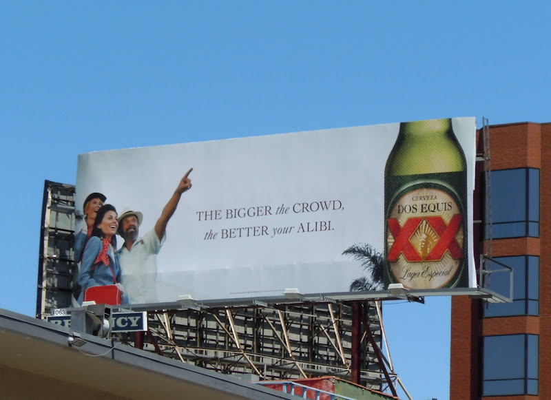 Dos Equis beer billboard