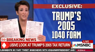 MSNBC Releases Trump's Tax Return--And Its An Epic Fail