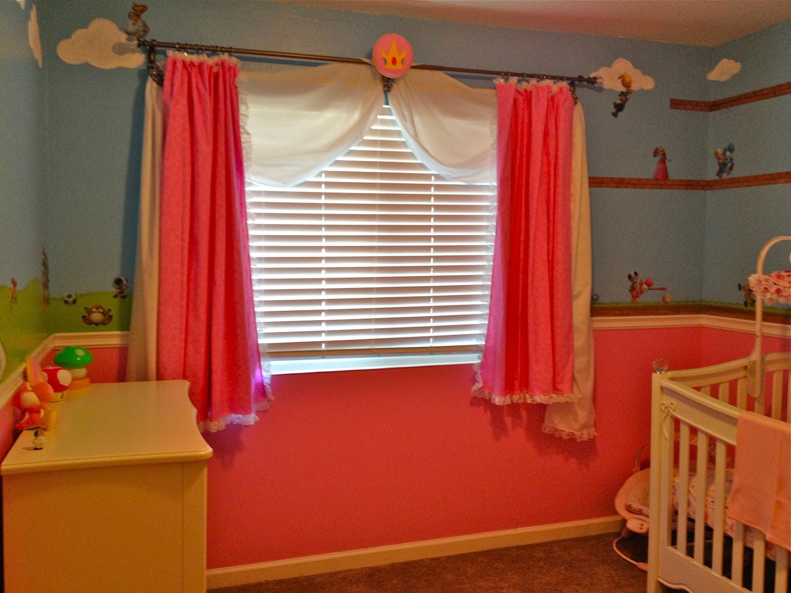 Super Mario Princess Peach Nursery Bedroom Walls