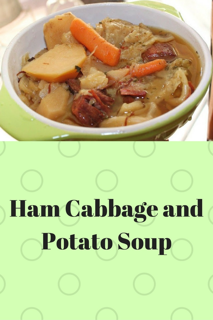this is leftover ham from holiday with potatoes, carrots and made into a soup