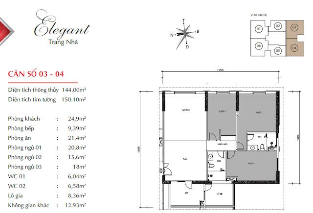 Thiết kế căn 03 04 Paragon Tower