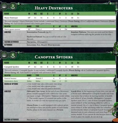 Destructores Pesados Necron