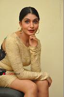 Actress Pooja Roshan Stills in Golden Short Dress at Box Movie Audio Launch  0096.JPG