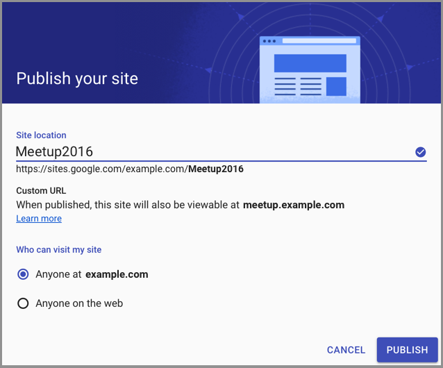 G Suite Updates Blog: Map your site to a custom URL in the new