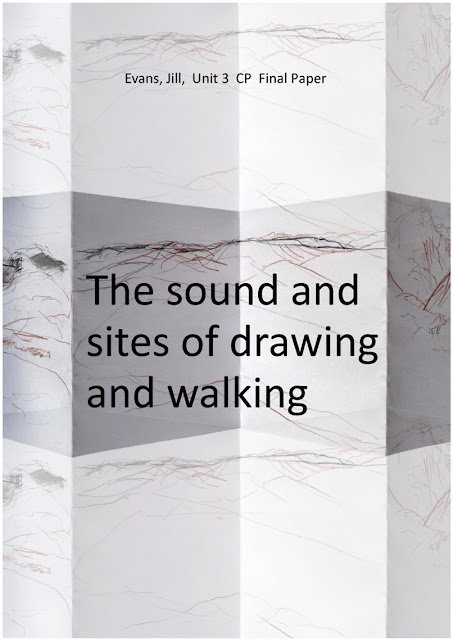 The sound and sites of walking and drawing, cover image - Distant England