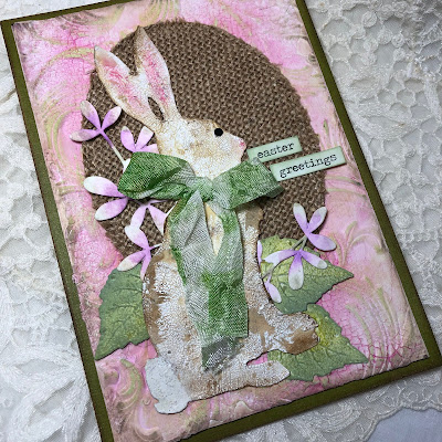 Frilly and Funkie https://frillyandfunkie.blogspot.com/2019/04/saturday-showcase-seth-apters-baked.html Spring Card Tutorial with Tim Holtz 3D Embossing Seth Apter Baked Velvet by Sara Emily Barker 19
