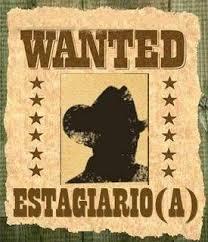 Cartaz de vaga para estagiário