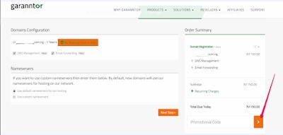 redeem coupon code for web hosting nigeria garanntor
