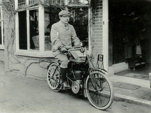 Sir Arthur Conan Doyle on a motorcycle. Your argument is invalid.
