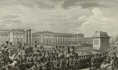 The Execution of Louis XVI by  Isidore-Stanislas Helman, 1794