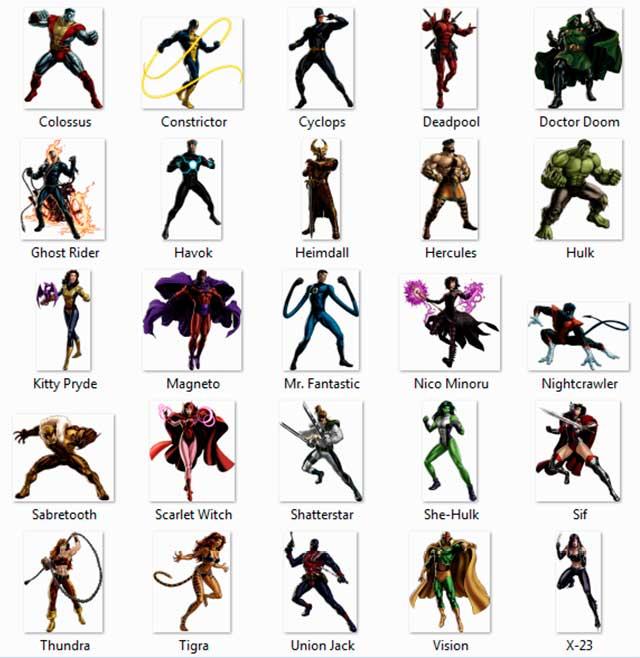 Vista Previa 26-50 Imágenes HD en PNG de Héroes Marvel