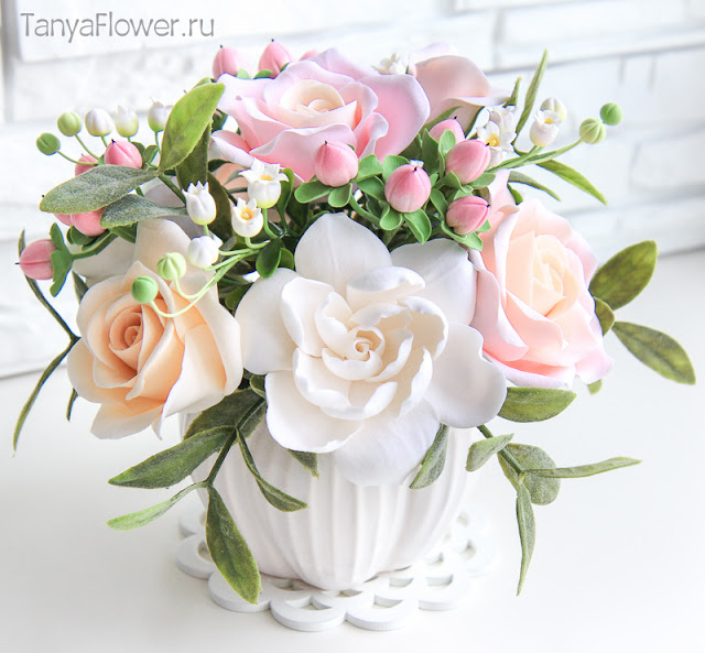 цветы из полимерной глины и холодного фарфора