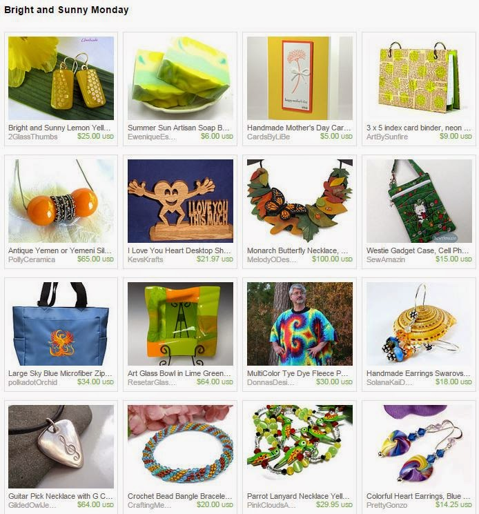 Bright and Sunny Monday by polymerclaybeads on Etsy