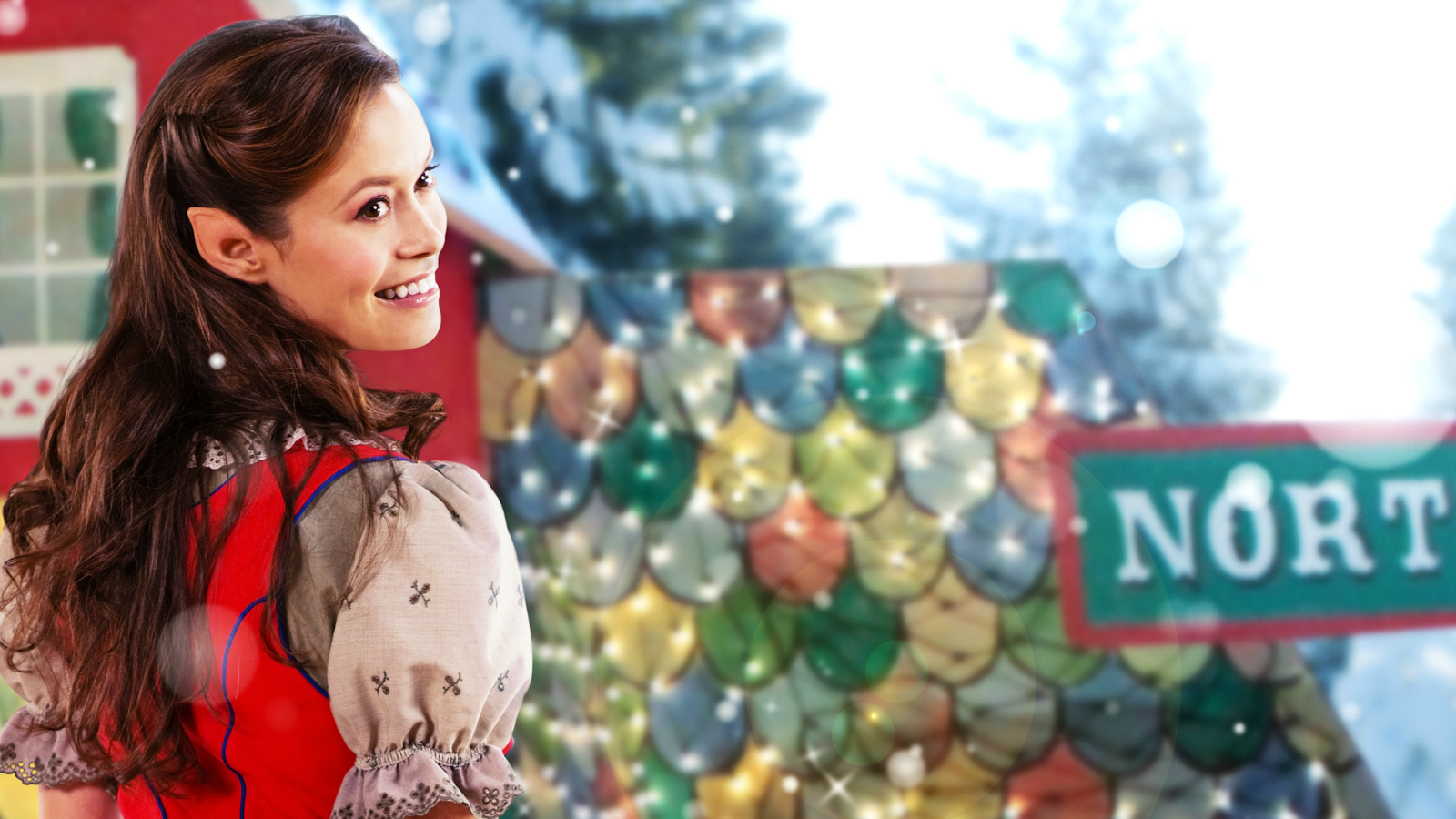 The promo art for the Hallmark Channel movie 'Help for the Holidays' starring Summer Glau