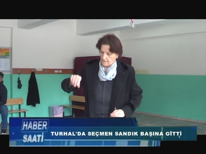 TURHAL'DA 46 BİN 375 SEÇMEN MAHALLİ SEÇİMLERDE OY KULLANMAK İÇİN SANDIK BAŞINA GİTTİ.