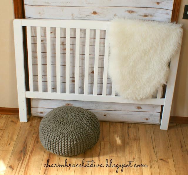slatted crib painted bed headboard