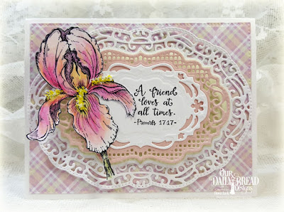 Our Daily Bread Designs Stamp Set: A True Friend, Our Daily Bread Designs Custom Dies: Vintage Borders, Vintage Labels, Pierced Rectangles, Our Daily Bread Designs Paper Collection: Pastel