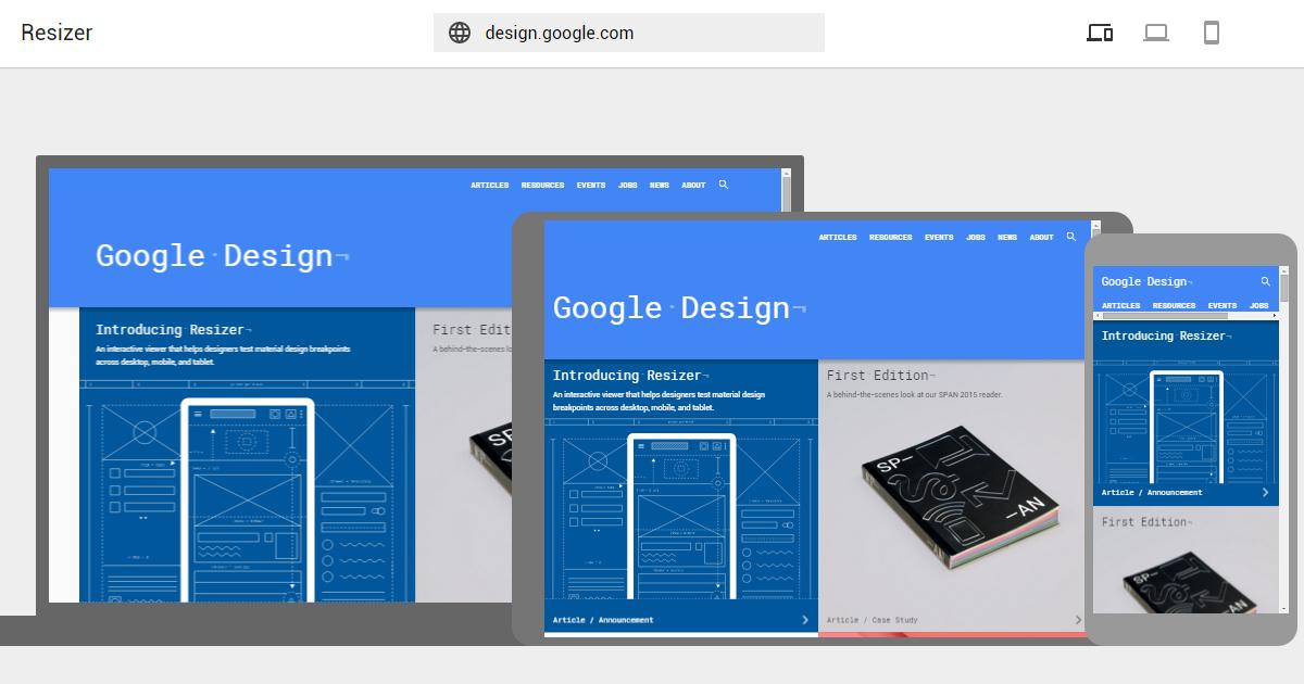 Google 推出免費工具 Resizer 測試RWD網頁設計效果