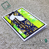Smooshed Background Card with Garden Impressions DSP and Nature's Root by Stampin' Up!