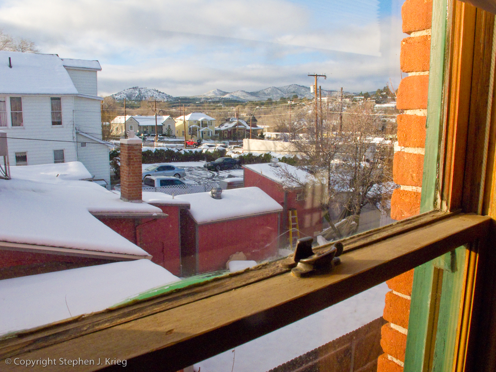 Photo View Of Downtown Prescott Arizona From Second Story Room Historic Hotel Vendome