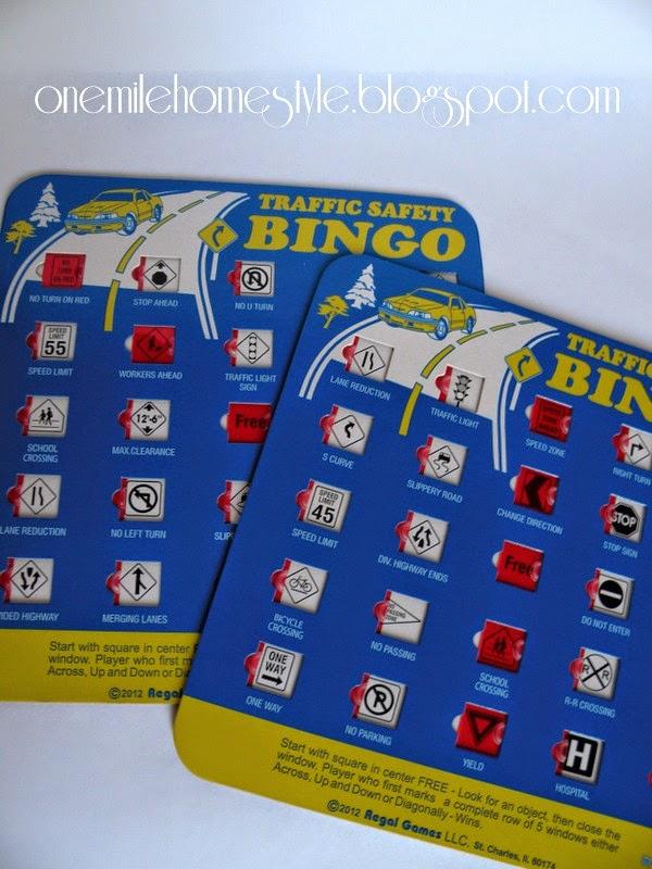 Travel Bingo Game - Road Trip fun with kids